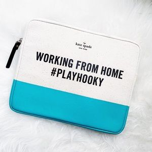 🆕 Kate Spade WFH ipad tech zip around case pouch